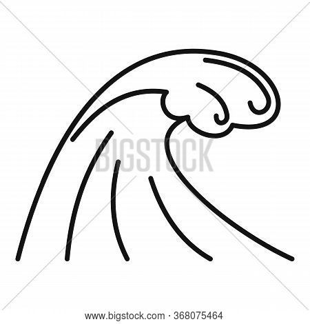 Earthquake Tsunami Icon. Outline Earthquake Tsunami Vector Icon For Web Design Isolated On White Bac