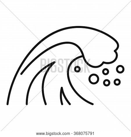 House Tsunami Icon. Outline House Tsunami Vector Icon For Web Design Isolated On White Background