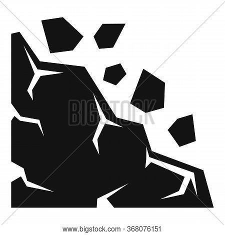 Travel Landslide Icon. Simple Illustration Of Travel Landslide Vector Icon For Web Design Isolated O