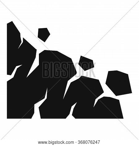 Building Landslide Icon. Simple Illustration Of Building Landslide Vector Icon For Web Design Isolat