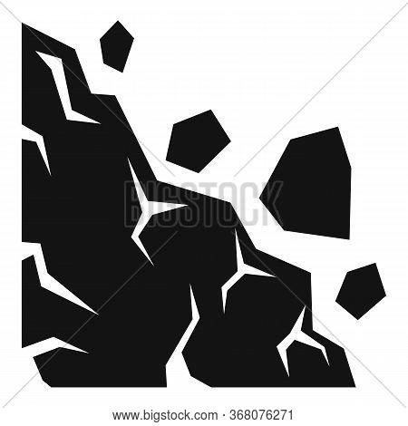 Collapse Landslide Icon. Simple Illustration Of Collapse Landslide Vector Icon For Web Design Isolat