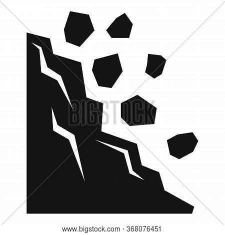 Natural Landslide Icon. Simple Illustration Of Natural Landslide Vector Icon For Web Design Isolated