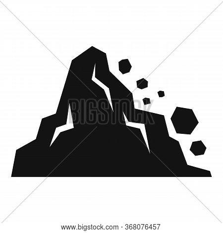 Landslide Element Icon. Simple Illustration Of Landslide Element Vector Icon For Web Design Isolated