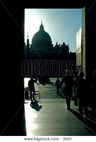St Peters In Silhouette