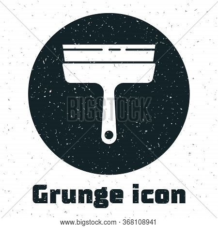 Grunge Cleaning Service With Of Rubber Cleaner For Windows Icon Isolated On White Background. Squeeg