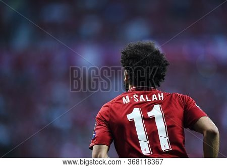 Madrid, Spain - June 1, 2019: Mohamed Salah Of Liverpool Pictured During The 2018/19 Uefa Champions