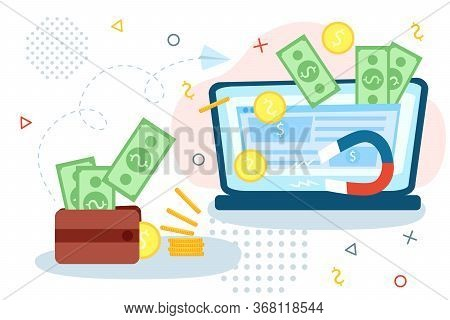 Startup Investment Or Crowdfunding Vector Illustration Concept. Entrepreneur Business Strategy Appli