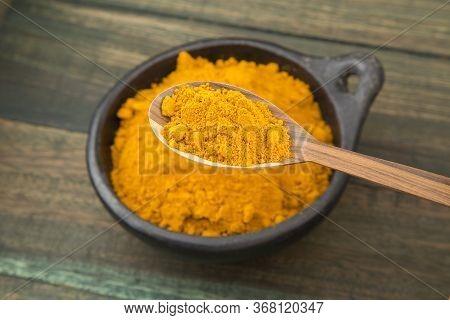 Turmeric Powder - Curcuma Longa. Text Space
