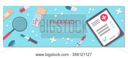 Pharmacy Background, Pharmacy Design, Pharmacy Templates. Medicine, Pharmacy, Hospital Set Of Drugs