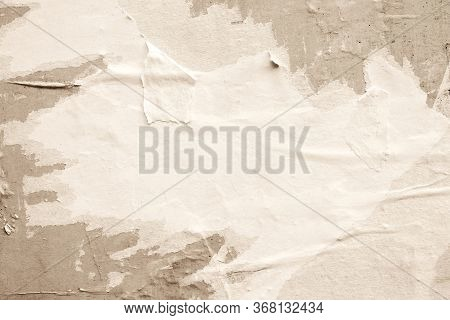 Blank Brown Beige Creased Crumpled Paper Texture Background Old Grunge Ripped Torn Vintage Collage P