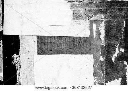 Blank White Creased Crumpled Paper Texture Background Old Grunge Ripped Torn Vintage Collage Posters