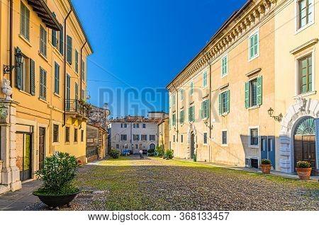 Brescia, Italy, September 11, 2019: Roman Museum Building Museo Romano In Piazza Del Foro Square In