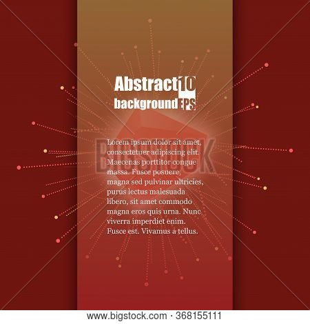 Abstract Faceted Element Cracked Into Multiple Fragments. Explosion Effect. Brochure Template. Eps10