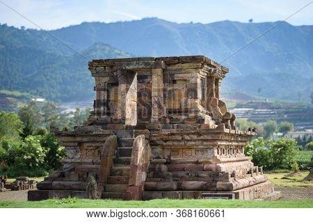 Candi Setyaki Hindu Temple, Near Arjuna Complex In Dieng Plateau, Central Java, Indonesia