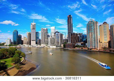 Brisbane River and City, Queensland