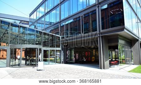 Warsaw, Poland. 26 May 2020. View Of Shopping Mall Elektrownia Powisle. The History Of The Powisle P