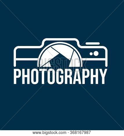 Photography Logo Template For Photographer. Photography Camera Symbol Logo Vector Eps