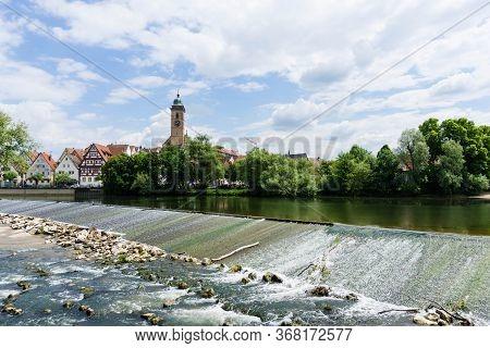 Panoramic View Of Nürtingen Germany Cityview City