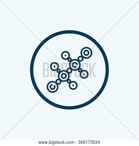 Sociology Molecule Icon. Outline Sociology Molecule Vector Icon For Web Design Isolated On White Bac