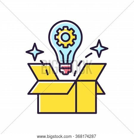 Creative Solution Rgb Color Icon. Idea Generation. Smart Innovative Thought. Solution For Project. S