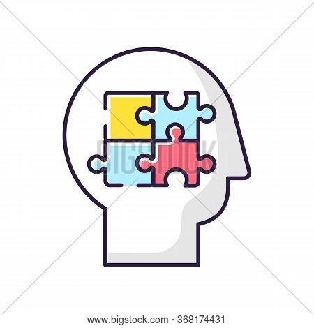 Elaboration Rgb Color Icon. Puzzled Mind. Logical Mindset. Counseling For Psychological Problem. Ana