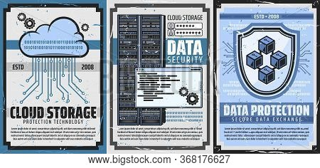 Internet Data Protection And Cloud Storage Technology. Information Privacy, Cloud Secure Access And