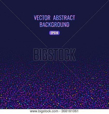 Abstract Background With Bright Geometric Texture. Space For Text. Bright And Funny Confetti For You