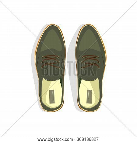 Gray Male Shoes Illustration. Style, Male Fashion, Formalwear. Shoes Concept. Illustration Can Be Us