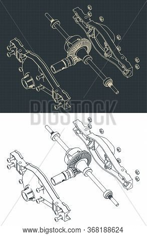 Differential Isometric Drawings