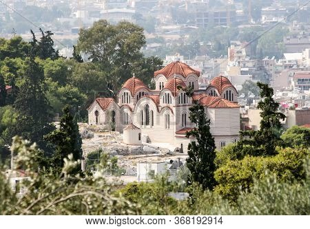 Church Of St. Marina In The Center Of Athens. Greece