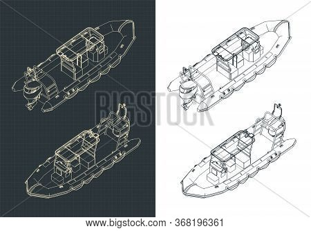 Rigid Inflatable Boat Isometric Drawings