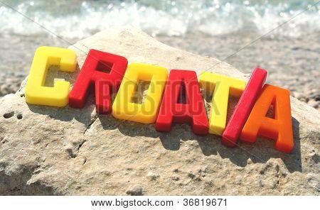 Chorwacja słowo i fala
