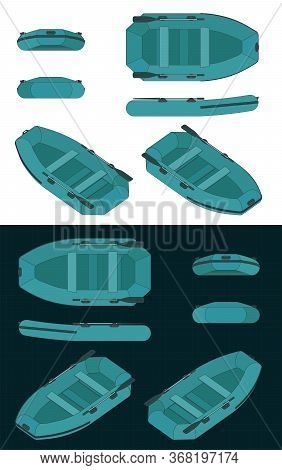 Rubber Boat Color Drawings