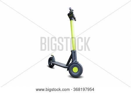 Lime Kick City Rider Bike, Urban Electric Scooter Isolated On White Background. Street Motorcycle -