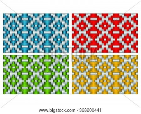 Beautiful Decorative Ethnic Woven (anyaman) Background Texture 19