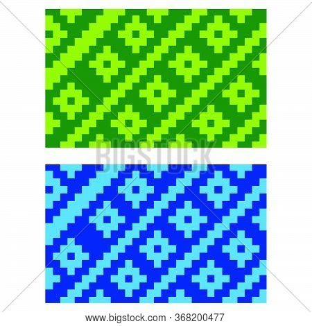 Flat Colorful Beautiful Decorative Ethnic Woven (anyaman) Background Texture 14