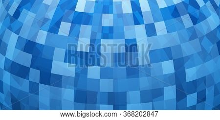 Abstract Colorful Mosaic Background As Part Of Sphere, In Light Blue Colors