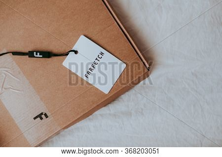 Farfetch Online Luxury Clothing Store, Box From Farfetch Store.