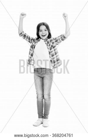 Little Winner. Child Care. Wellbeing And Health. Upbringing Versatile Personality. Childhood Concept