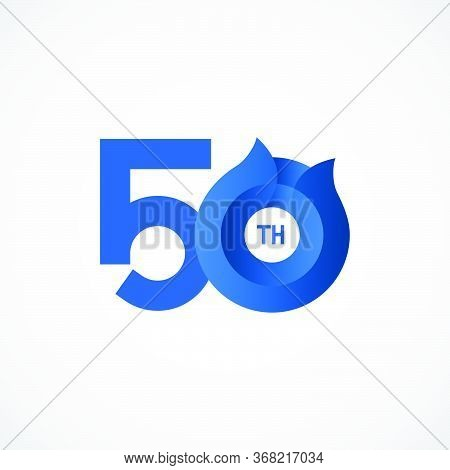 50 Th Anniversary Celebrations Vector Template Design Illustration