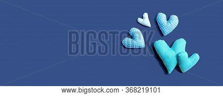 Appreciation Theme With Handmade Heart Cushions - Flatlay