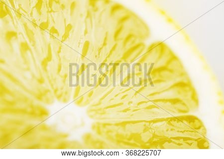 Juicy And Ripe Lemon. Citrus Fruit. Source Of Vitamin C. Healthy Lifestyle. Fortified Product. Prope