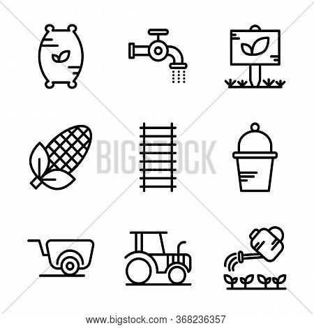 Agriculture Icon Set Including Compound,seed,fertilizer,flush, Water,pipe,garden, Tree,leaf,corn,agr