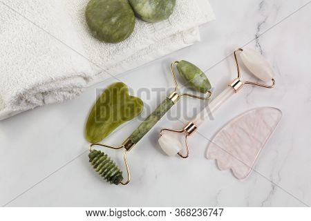 Chinese Guasha For Massage. Spa, Skin Care, Body Treatment. Body Health Care. Medical Tool.