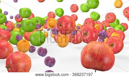 Fruit Mix, Animated Fruit Movement, 3d Animation