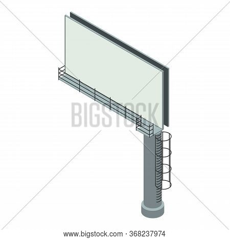 Side Road Billboard Icon. Isometric Of Side Road Billboard Vector Icon For Web Design Isolated On Wh