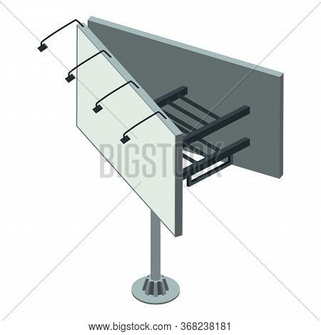 Commercial Billboard Icon. Isometric Of Commercial Billboard Vector Icon For Web Design Isolated On