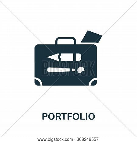 Portfolio Icon. Simple Illustration From Creative Package Collection. Creative Portfolio Icon For We