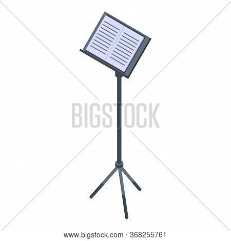 Musical Note Stand Icon. Isometric Of Musical Note Stand Vector Icon For Web Design Isolated On Whit