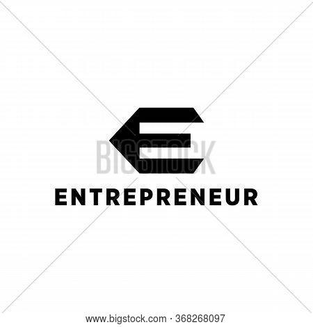Entrepreneur Logo Vector And Education, Commerce, Concept,